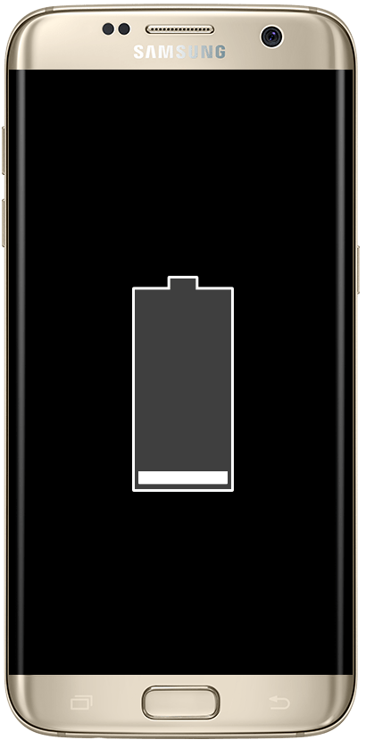 A samsung phone with a dead battery